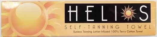 Helios Self Tanning Towel  Sunless Tanner Tan Lotion Infused Bronzer