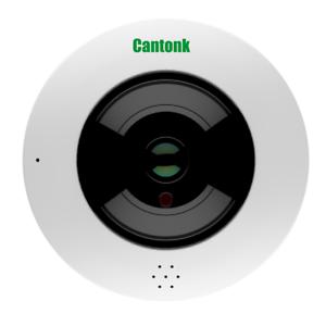 Details zu Cantonk IPDE20F300 - Telecamera fish-eye 360° panoramica, Full HD
