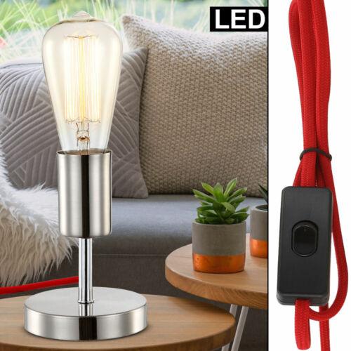 Luxus LED Tisch Leuchte Spot Ess Zimmer Chrom Lampe Beistell Lese Beleuchtung