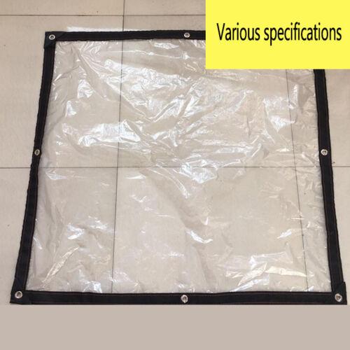 Patio Enclosure Cover Tarpaulin Drilling Edge Waterproof PVC Tarp Multi-size PGS