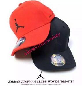 Nike Jordan Cap Jordan Classic 99 Woven Flex-Fit Hat Jumpman Gym Red ... 21d742dac32
