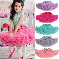 Kids Baby Girls Dancewear Princess Chiffon Tutu Full Pettiskirt Princess Skirt
