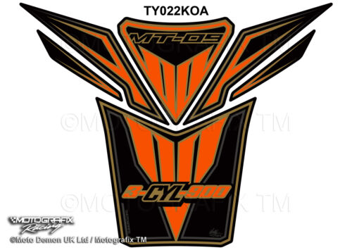 Yamaha MT09 2013 14 15 MT-09 Orange Motorcycle Tank Pad Motografix Gel Protector