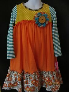 NWT TIERED DRESS MULTI TEXTURE FABRIC W// BUTTON FLOWER ACCENT BOUTIQUE SCHOOL