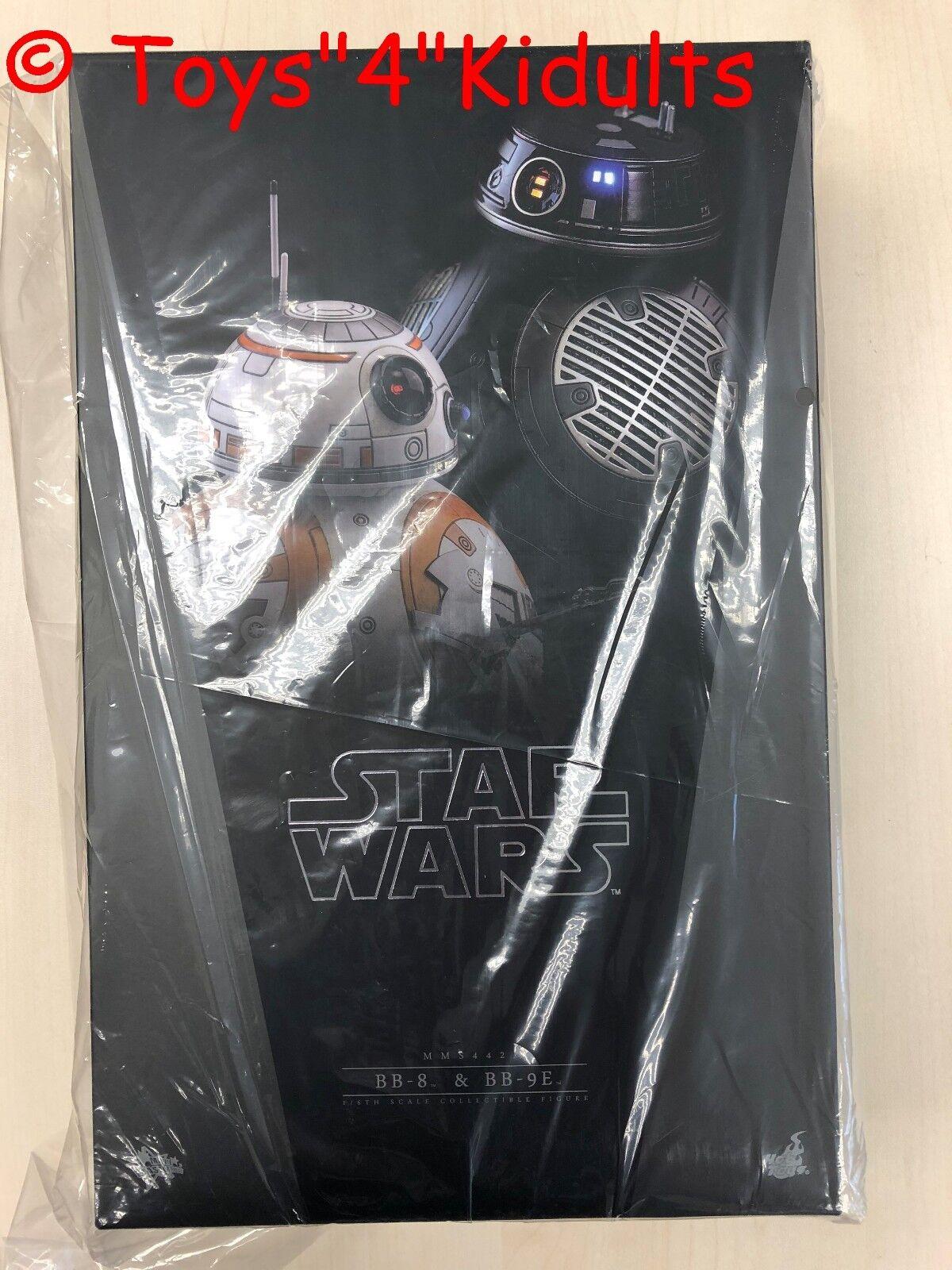Hot Toys MMS 442 Guerra De Las Galaxias La última Jedi BB-8 & BB-9E Set Ratón Droid Nuevo