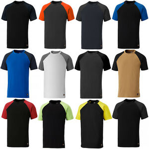Dickies-Two-Tone-T-Shirt-Crew-Neck-Short-Sleeve-Work-Mens-Tee-SH2007