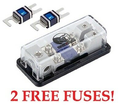 Fused Mini ANL Power Ground Distribution Block 2 4 Amp - 3 IN 2 OUT - 2 or 4 AW