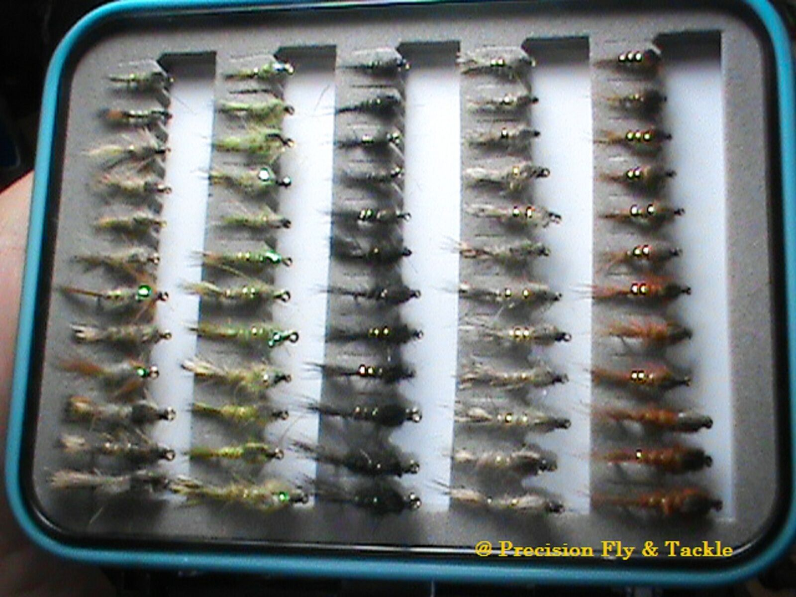 72 Hare's Ears In Fly Box  Trout Wet Flies  Fly Fishing Flies US Veteran Owned