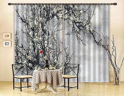 3d Pflaume Blume 56 Blockade Foto Vorhang Druckvorhang Vorhänge Stoff Fenster De