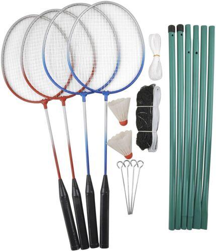 Badminton Schläger Federball Badmintonschläger Netz Tasche Spiel Bälle Carlton