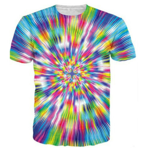 Mens//Womens Colorful Hypnosis 3D Print Casual T-Shirt Short Sleeve Tee Tops Tops
