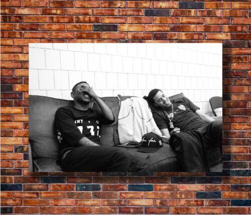 Hot Gift C1495 Art Kendrick Lamar and J Cole Custom 20x30 24x36in Poster