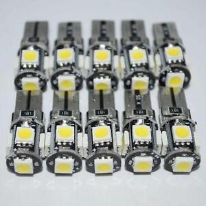 10PCS-T10-White-Led-Free-Canbus-Error-5-SMD-Car-Wedge-light-Bulb-168-194-W5W-Hot