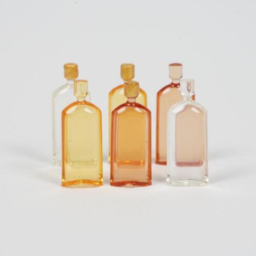 6Pcs//Set Mini Whiskey Model For 1:12 Miniature Dollhouse Kitchen Decor Pro DIY//