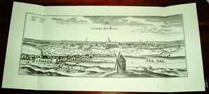 Hannover-alte-Ansicht-Merian-Druck-Stich-1650-Panorama-Staedteansicht-Niedersachs