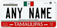 Tamaulipas Red Mexico Any Name Number Novelty Auto Car License Plate C04