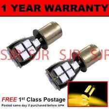 382 1156 BA15s 207 P21W AMBER 18 SMD LED REAR INDICATOR LIGHT BULBS X2 RI201202