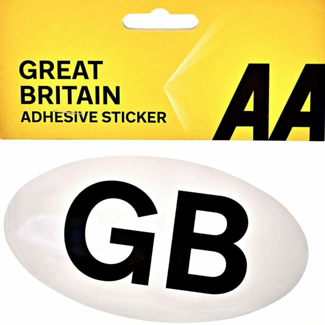 AA adhesive sticker GB Sticker Great Britain adhesive Plate Badge Travel Abroad