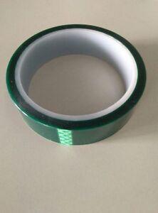 "12Rolls High Temp Polyester Green Masking Tape Powder Coating 1/"" x 36yds High ad"