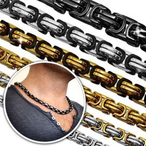Halskette Herren Edelstahlkette Panzerkette Königskette Armband Herrenschmuck Moderne Techniken