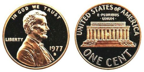 1977 S LINCOLN CENT GEM DCAM PROOF from PROOF Set