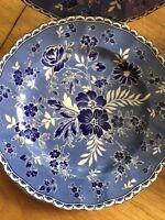 "Set of 4 Johnson Bros England 1883 Devon Cottage Blue Salad Plates 8 1/2"" New"