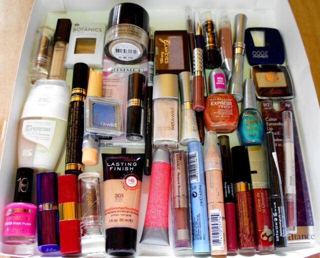 24 Wholesale Joblot Makeup Items Revlon Bari CK Nail Varnish Lipstick Make Up