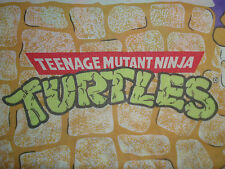 Vtg 80s TEENAGE MUTANT NINJA TURTLES Bed Sheet 1988 4 USE OR CRAFT Top Sheet