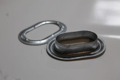 1 Pack=15 Stück Ovalösen 42,0 x 22,0 mm verzinkt DIN 7332