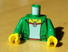1x NEW Genuine LEGO Female Minifig Torso Green Jacket Blue Top & Necklace