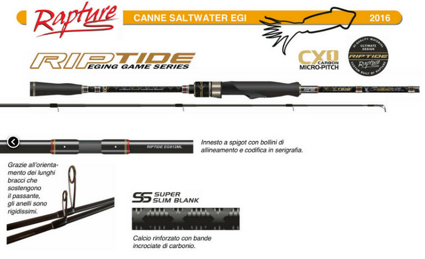 Rapture Riptide 246 Eging Micro Pitch fishing rod for squid and cuttlefish