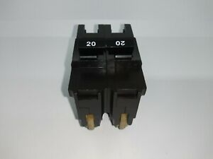 Used Federal Pacific NA220 Thick Stab Lock 2 pole 20 amp Circuit Breaker