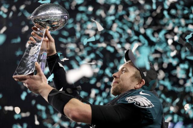 Nick Foles Philadelphia Eagles with 2018 Superbowl - 8x10 Color Photo
