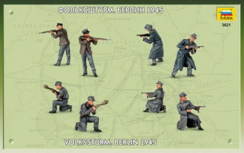 """Model Kits /""""German soldiers of Land Army 1939-45 WWII/"""" toy figures 1:35 Zvezda"""