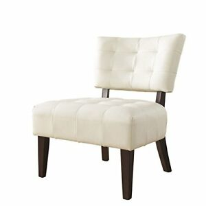 Peachy Details About White Tufted Accent Chair Oversized Wood Legs Frame Dressing Mirror Table Makeup Gamerscity Chair Design For Home Gamerscityorg
