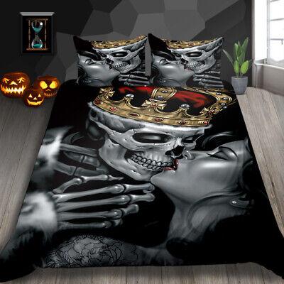Milsleep 3d Queen Skull Bedding Sets, King And Queen Skull Bedding