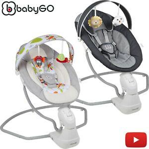 Elektrische Babywippe Babyschaukel Babywiege Wippe Schaukel Musik BabyGo CUDDLY
