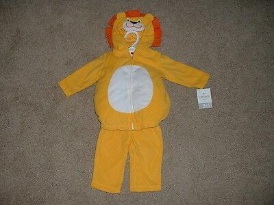 Carter's Baby Boy Fleece Lion Halloween Costume Set Size 3-6 months 6M NWT $38