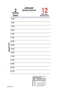 bind Kalender 2020 1 Tag 1 Seiten DIN A6 Systemplaner Organizer Planer B260320