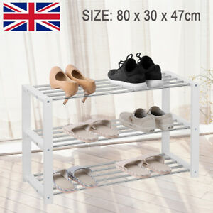 Image is loading 3-Tier-Shoe-Storage-Rack-Storing-Cabinet-Entryway- & 3 Tier Shoe Storage Rack Storing Cabinet Entryway Metal Storage Shoe ...