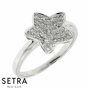 Stackable Couture Star Shaped 14k Fine Gold Sparkly Diamond Ring Ebay