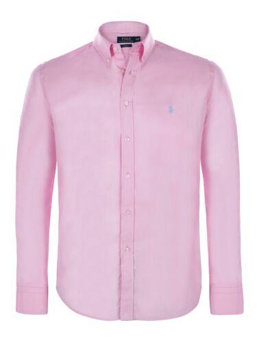 POLO RALPH LAUREN camicie per Uomo-Slim Fit pulsante Indietro Collo Camicia a maniche lunghe