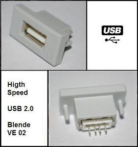 USB-Einbaubuchse-passend-zu-Moebeldesign-Skoda-Superb-Octavia-Yeti-VW-Golf-Passat