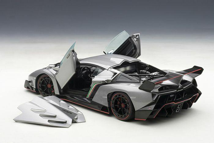 1 18 AUTOart 74506 Lamborghini Veneno grigio grigio Showcar Genf 2013, RARITÄT