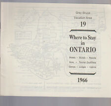 Where to Stay in Ontario Canada #19 1966 Grey Bruce Vacation Area