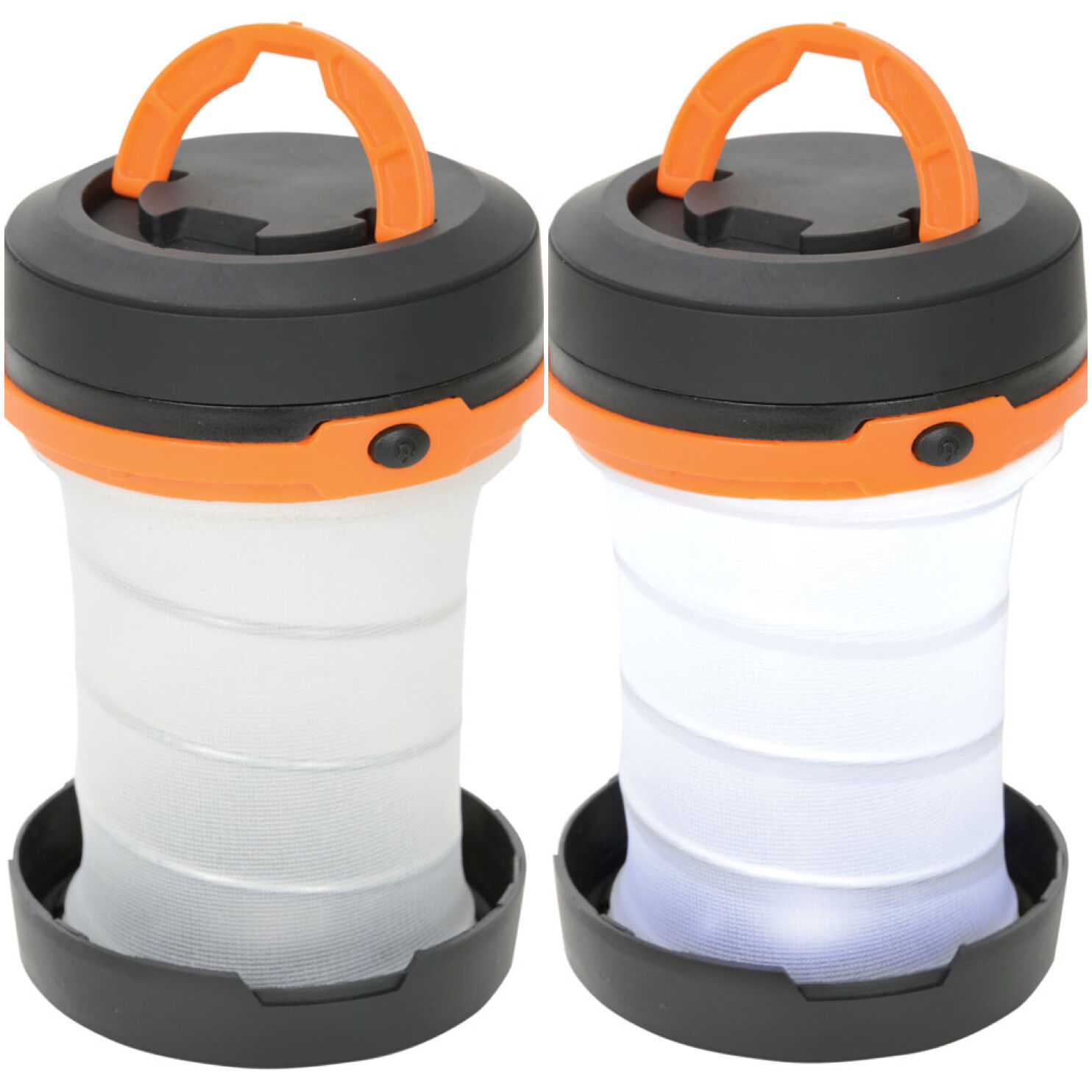 2x LYYT LED Pop Up Foldable Camping Outdoor Portable Travel Lantern & Flashlight
