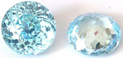 Size 4-8 mm Top Light Aqua Blue Fancy Double Round Brilliant Cut CZ AAAAA