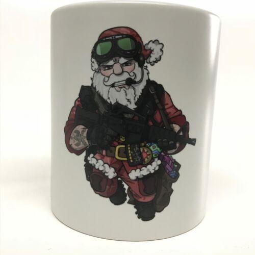 Weihnachtsmann Tactical Santa Claus Mug Tasse Kaffeetasse 300 ml