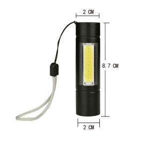 Mini-Portable-USB-Flashlight-XPE-COB-LED-Rechargeable-Lantern-Light-Lamp-Outdoor