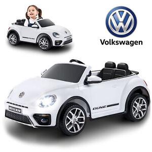 Image Is Loading Children Kids 12v Electric Vw Beetle Ride On